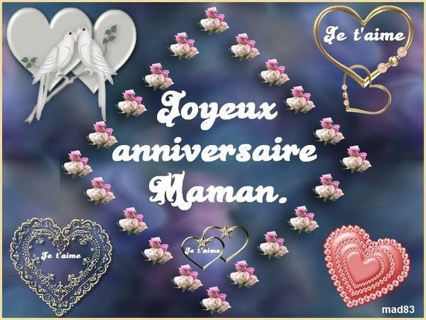 Messages divers page 3 - Image bon anniversaire maman ...